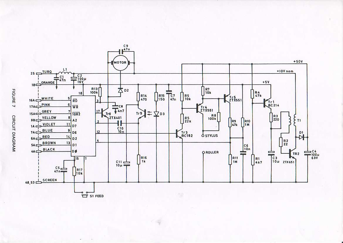 Zx Printer Service Manual Train Schematics Circuit Diagram 7